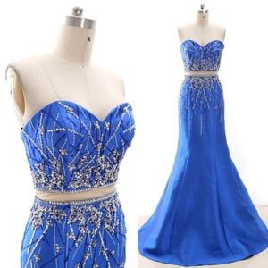 Dresses & Skirts - Mermaid Strapless Pageant Prom Gown Evening Dress